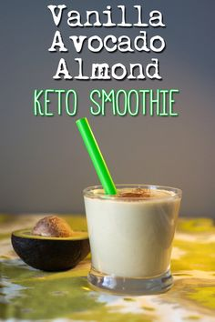 Low Carb Keto Vanilla Avocado Almond Smoothie