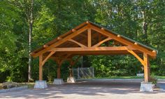 Custom Built Wood Carports | DIY Post And Beam Carport Plans PDF Plans Download