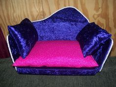 This is a purple and pink couch that someone special ordered from us!