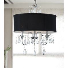 Allured Crystal Chandelier with Translucent Fabric Shade - 14973843 - Overstock Shopping - Great Deals on The Lighting Store Chandeliers & Pendants