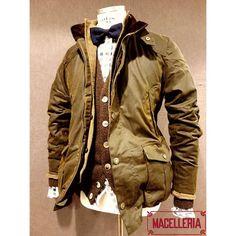 Composizione A/I '17 • #autunno #autumn #inverno #winter #giaccone #jacket #waxedjacket #barbour #giacca #giacchè #cardigan #shetland #irishcrone #camicia #shirt #xacus #papillon #roselli • #macelleria #mestre