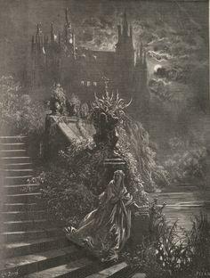 """Le Prince Lointain: Gustave Doré (1832–1883), Illustration du Conte """"P..."""