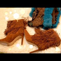 Sam Edelman Fringe Boots Living on the fringe!!!! The darling Sam Eldelman brown suede boots are brand new! Sexy boots have 3 3/4 inch heel & measures 7 inches from top of heel to top of boot. They go with about anything Sam Edelman Shoes Heeled Boots