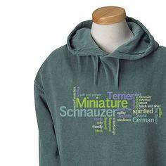 Miniature Schnauzer Garment Dyed Hoodie by WryToastDesigns on Etsy