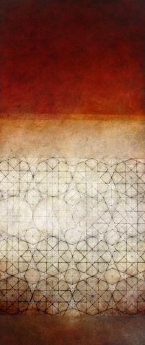 "Luisa Sartori go to ""Circles, triangles and then..."" images graphite, oil on prepared paper"