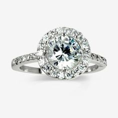 Rachael Real Sterling Silver DiamonFlash<sup>®</sup> Cubic Zirconia Cluster Ring
