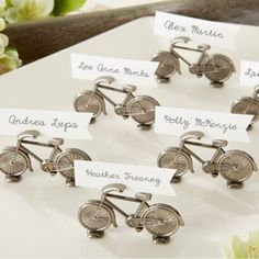 """""""Le Tour"""" Bicycle Place Card/Photo Holder by Beau-coup $7.75 - $9.95(sets of 6)"""