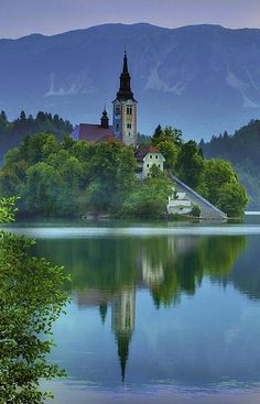 Church Of The Assumption | Lake Bled | Julian Alps | Slovenia | Photo By Don Wolf