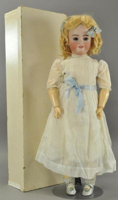 Lot: LARGE GERMAN BISQUE DOLL IN ORIGINAL BOX, Lot Number: 1333, Starting Bid: $125, Auctioneer: Bertoia Auctions, Auction: ANNUAL SPRING AUCTION - Saturday June 3, 2017, Date: June 3rd, 2017 CDT
