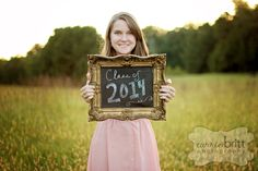 senior picture idea - I like the chalkboard frame. Maybe in a studio shot?
