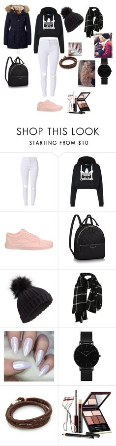 """""""WINTER KISS"""" by reka15 on Polyvore featuring adidas Originals, Vans, Miss Selfridge, CLUSE, MIANSAI and Kevyn Aucoin"""