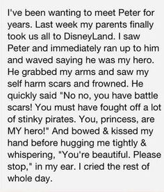 Helps restore my faith in humanity. Truth be told however, we've all had our own battles and received scars from them. We all need to listen to Peters praise and advise.