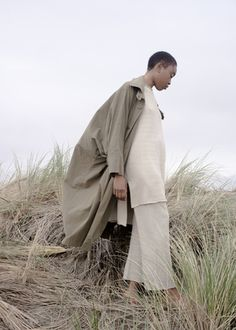 Issey Miyake Wind Coat, Lauren Manoogian Sweater and Pants from James Rowland Shop