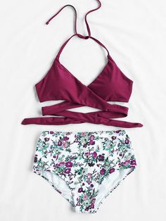 Online shopping for Calico Print High Waist Wrap Bikini Set from a great selection of women's fashion clothing & more at MakeMeChic.COM.