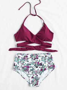 Shop Calico Print High Waist Wrap Bikini Set online. SheIn offers Calico Print High Waist Wrap Bikini Set & more to fit your fashionable needs.
