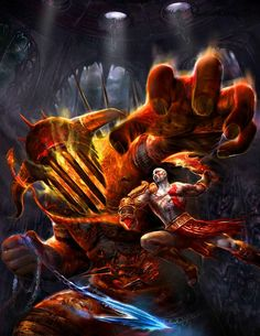 View an image titled 'Kratos & Hades Art' in our God of War III art gallery featuring official character designs, concept art, and promo pictures. Kratos God Of War, Video Game Art, Video Games, War Tattoo, Fan Art, Greek Gods, Gods And Goddesses, Hades, Mythology