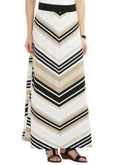 798935a229 Cato Fashions Chevron Mitered Stripe Knit Maxi Skirt #CatoFashions  #catosummerstyle Modest Outfits, Modest