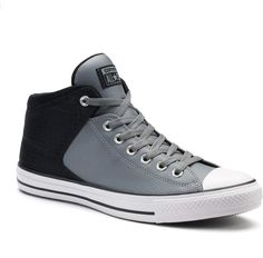 Converse Adult Chuck Taylor All Star High Street Leather Sneakers Casual Sneakers, Leather Sneakers, Sneakers Fashion, Casual Shoes, Fashion Shoes, Mens Fashion, Men's Sneakers, Street Fashion, Men S Shoes