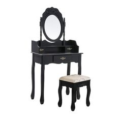 Found it at Wayfair.co.uk - Carisio Dressing Table Set with Mirror