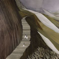Narangkar Glover 'Shangri-La Girls School: A Thousand Stairs', 2010, 60 x 60 inches, oil on canvas