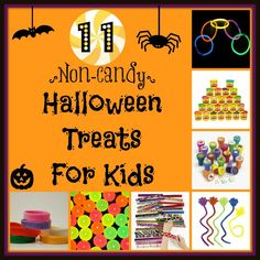 Looking for an alternative to candy to hand out to the kids on trick-or-treat night? Here are 11 thrifty and fun ideas! www.SeeMomClick.com