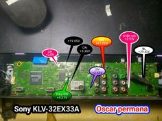 Sony Led Tv, Circuits, China, Board, Porcelain, Planks