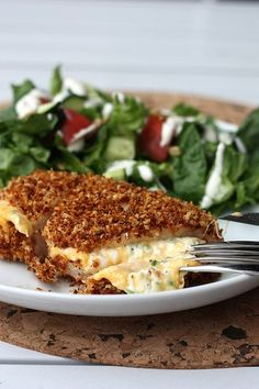 Jalapeno Popper Chicken We LOVED this! So easy. 30 mins was the perfect cooking time. I served it with a delicious kale salad. Great low carb dinner!