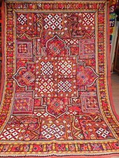 old vintage mirror work and patchwork wall   by jaisalmerhandloom   $399.00