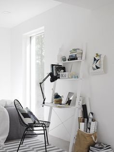Home office / work space in the fabulous Finnish home of Maja / Musta Ovi.