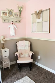 Rustic girl nursery