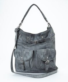 Another great find on #zulily! Gray Lizzie Double-Pocket Hobo by Cesca #zulilyfinds
