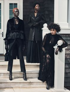Afro Goth Fashion has a pretty diverse background that includes African and Caribbean cultures. Characterized by dark colors and antiquated clothing. Alternative Mode, Alternative Fashion, Looks Style, Looks Cool, Dark Fashion, Gothic Fashion, Net Fashion, Black Girl Magic, Black Girls