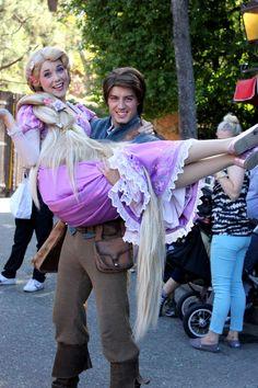 Rapunzel and Flynn by ourdisneydays