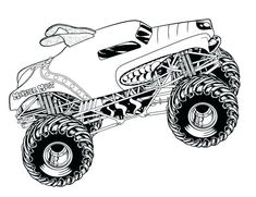 12 best monster truck coloring pages