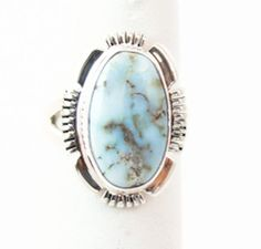 Navajo Silver Dry Creek Turquoise Women's Ring Size 5 #IndianJewelryStore
