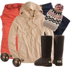 """""""Cozy Cream & Coral"""" by qtpiekelso ❤ liked on Polyvore"""