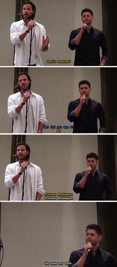 [SET OF GIFS] Jared & Jensen convention panel #DallasCon2013