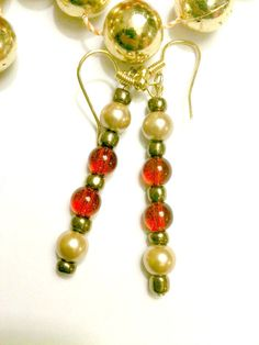 Golden Red Sands by ForHerEarsOnly on Etsy,