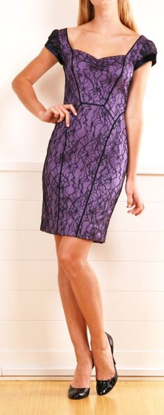 Purple & Black Lace Dress.