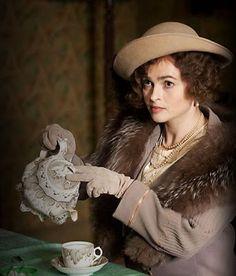 """The Queen (Helena Bonham Carter) pours #tea in """"The King's Speech"""" (2010)."""