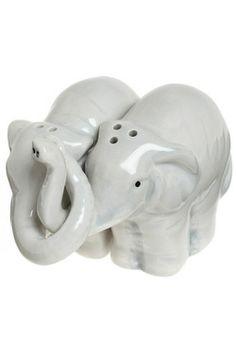 A toss of salt for good luck from a pair of elephants!! Trunks Full of Taste Shaker Set, #ModCloth