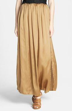 Dirty Ballerina Gathered Waist Maxi Skirt available at #Nordstrom