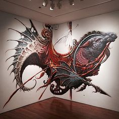 thinkspace-gallery:  'Capricorn Blues' from Aaron Horkey ( @aaronhorkey )  Vitality and Verve is made possible via a collaboration between the Long Beach Museum of Art ( @lbmaorg ) with Thinkspace ( @thinkspace_art ) and Pow! Wow! ( @powwowlongbeach )  V&V will remain on view through Sept. 27th. The LBMA is open Thursday through Sunday. Daily admission is $7. Hours of operation and full details at www.lbma.org  #vitalityandverve #lbma #longbeachmuseumofart #thinkspacegallery #thinkspacef...
