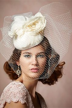 Pageantry Pillbox from BHLDN, bridal headpiece, hair accessory
