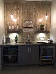 small wet bar. perfect!