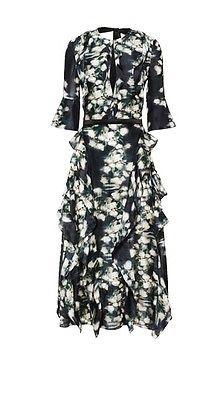 "H&M ""Conscious Exclusive"" Patterned Silk Dress EU 36/ US 6/ UK 10 HM | eBay"