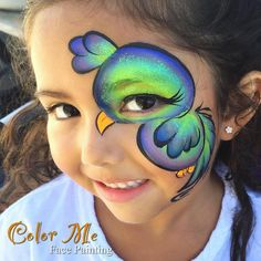 Bird Face Painting - Color Me Face Painting - Vanessa Mendoza