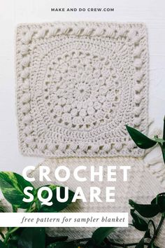 Crochet Granny Square Afghan, Crochet Blocks, Granny Square Crochet Pattern, Afghan Crochet Patterns, Crochet Squares, Crochet Motif, Granny Squares, Granny Granny, Square Blanket