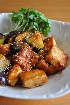 茄子と厚揚げの照り焼き by えむらて。 [クックパッド] 簡単おいしいみんなのレシピが237万品
