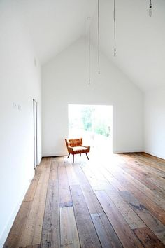 Wide plank rustic floors